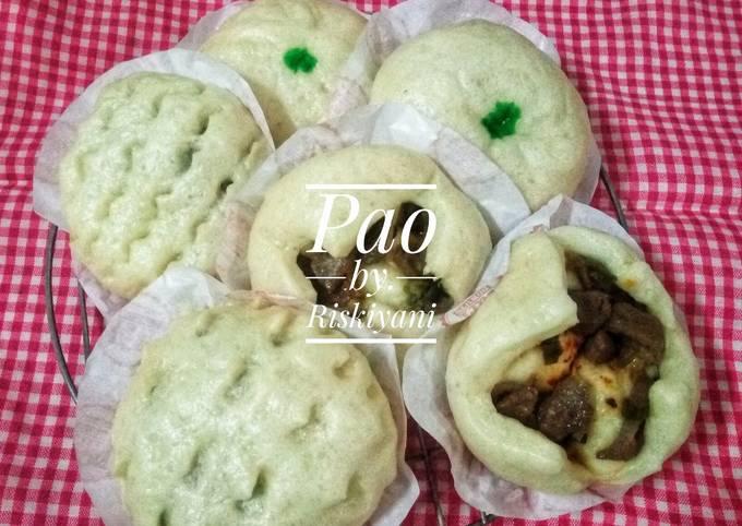 Resep Pao isi bakso sapi, Tuna, dan Kacang hijau 😊