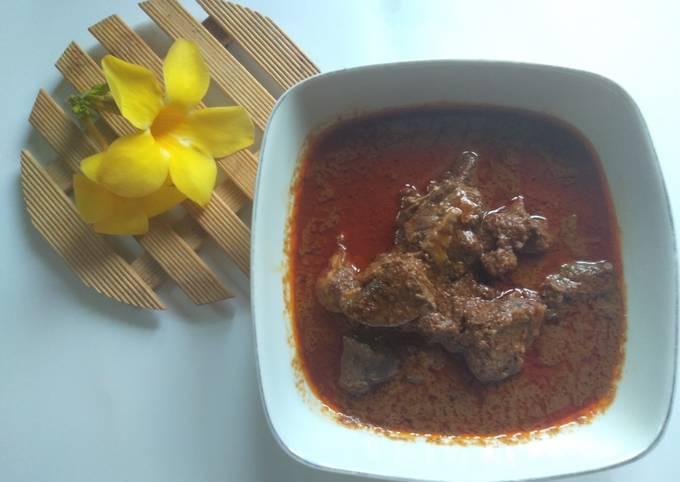 Resep Kalio daging (masakan sebelum jadi rendang)