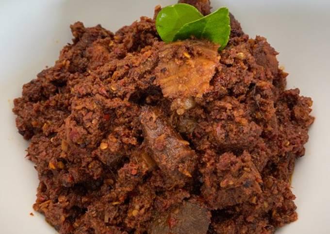 Resep Rendang daging & paru sapi (Jawa)