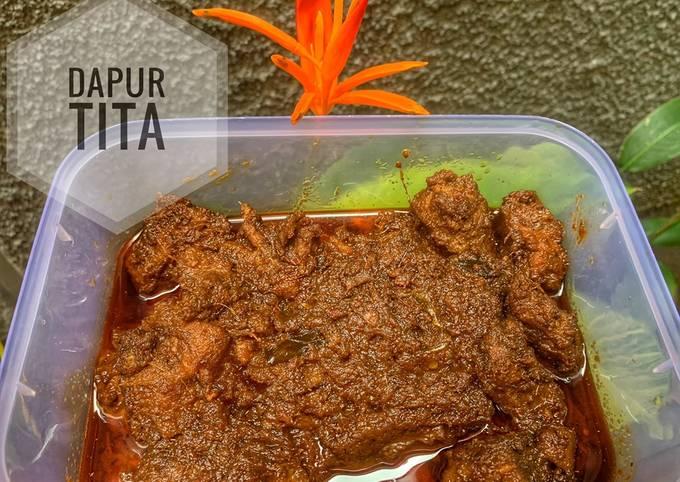 Resep: Rendang daging sapi ala dapur tita