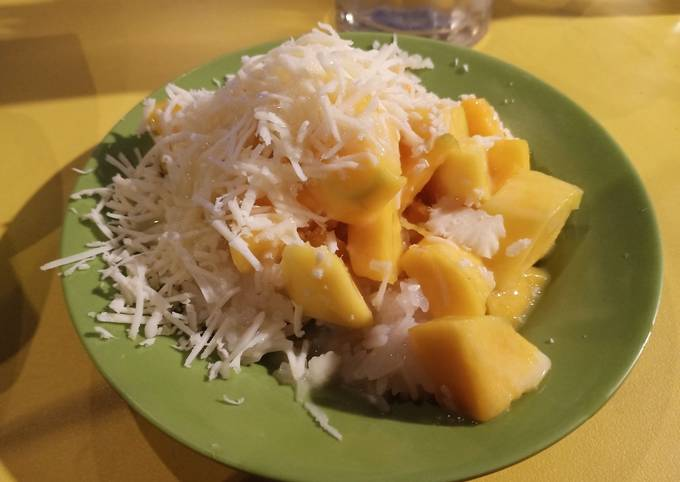 Resep: Manggo sticky rice