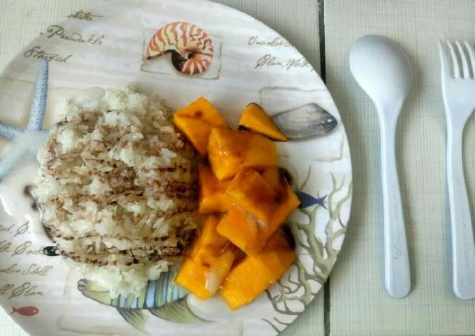 Resep Thailand mango sticky rice (ketan mangga)