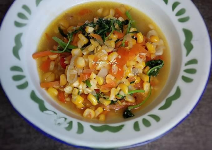 Resep: Tumisan Pelangi (bayam,wortel,jagung)