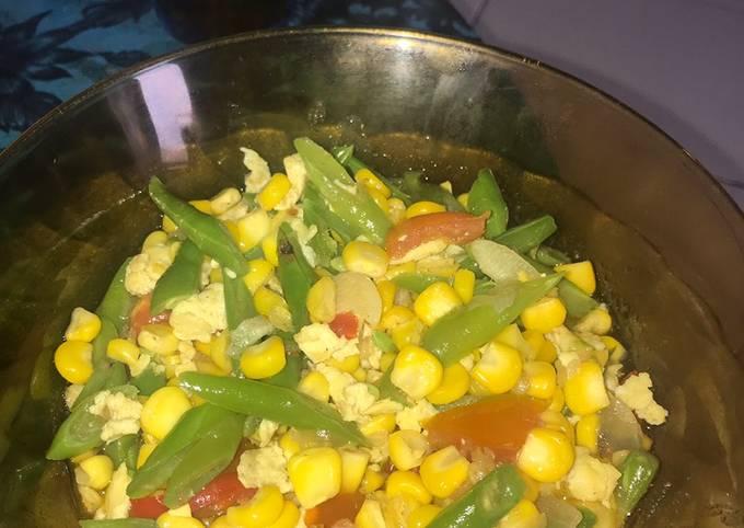 Resep: Tumis buncis jagung telur