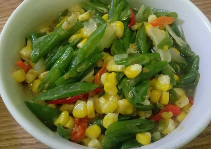 Resep: Tumis buncis jagung manis