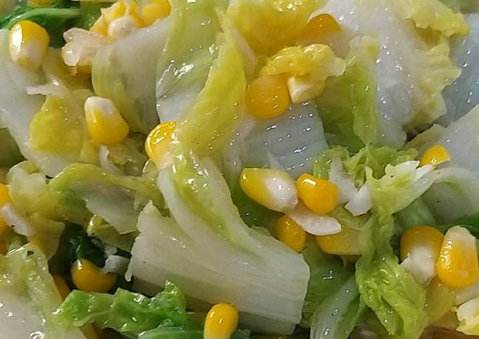 Resep Tumis sawi putih jagung manis