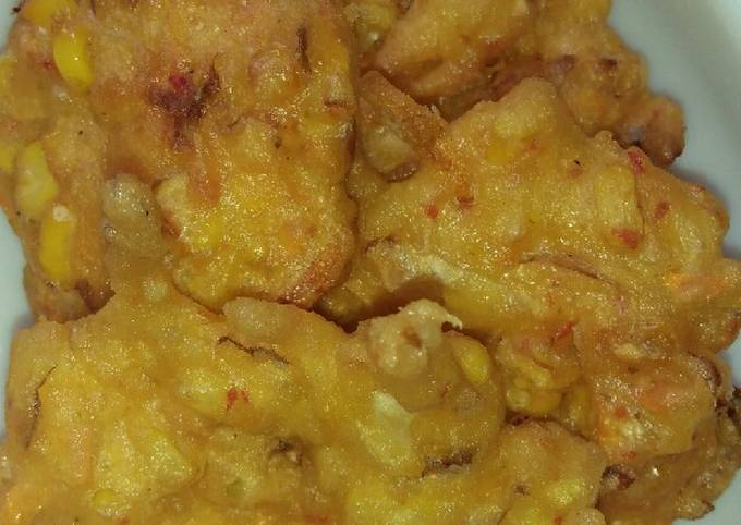 Resep: Bakwan jagung pedas