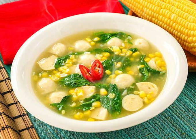 Resep Resep Sup Kental Bayam dan Jagung