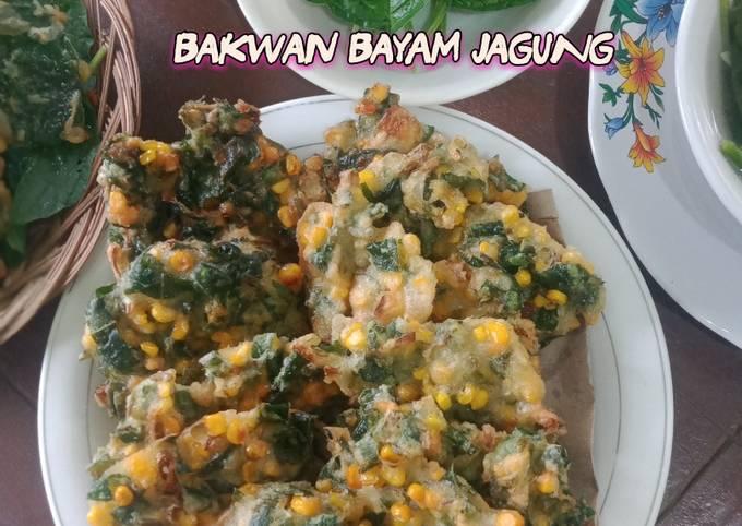 Resep: 23 #Bakwan bayam with jagung
