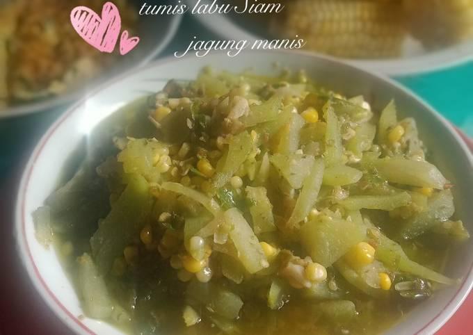 Resep: 21 #Tumis labu Siam jagung