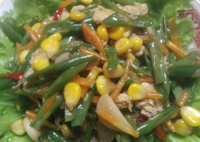 Resep Oseng jagung,buncis dan wortel