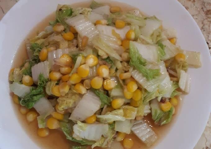 Resep: Sawi putih & jagung