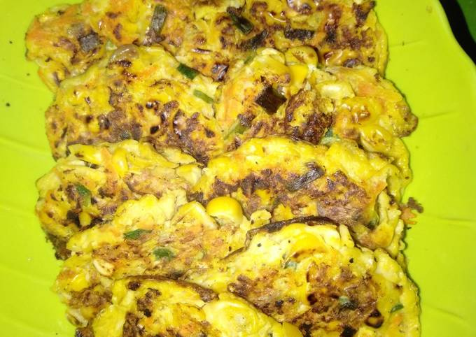 Resep Dadar jagung diet (tanpa tepung, gula, minyak)
