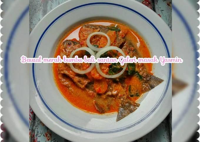 Resep Bawal merah bumbu bali santan Galeri masak Yasmin