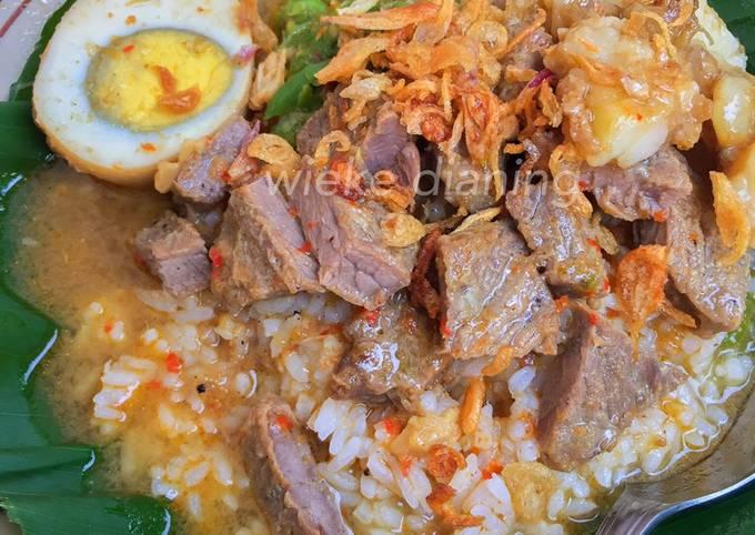 Resep: Nasi gandul khas Pati