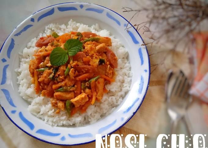 Resep: Nasi Gila (versi ayam, sosis, sayur)