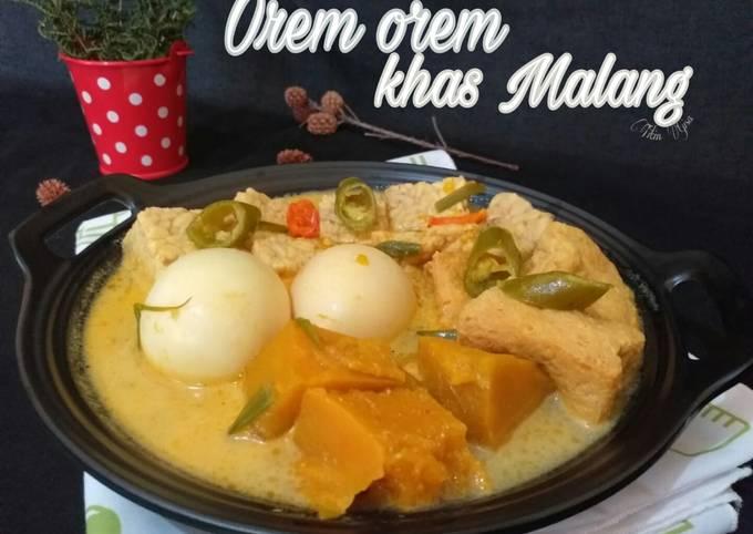 Resep Orem orem khas Malang