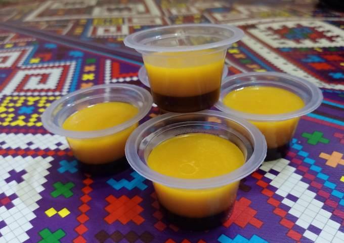 Resep Pumpkin choco pudding