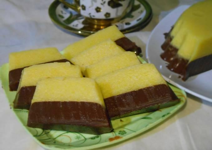 Resep Puding labu kuning lapis coklat