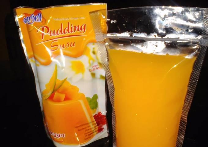 Resep Puding sedot nutrijell puding instant mangga