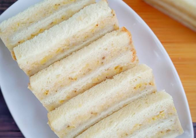 Resep Roti kukus pisang keju (olahan roti tawar)