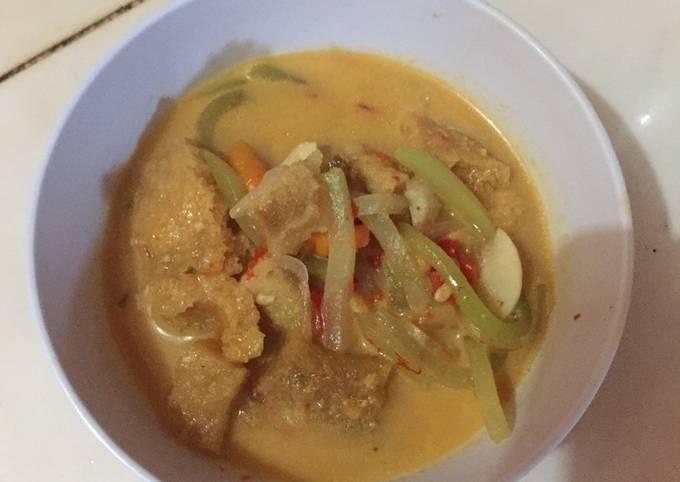 Resep Sambal goreng jipang krecek (jangan Lombok jepan)