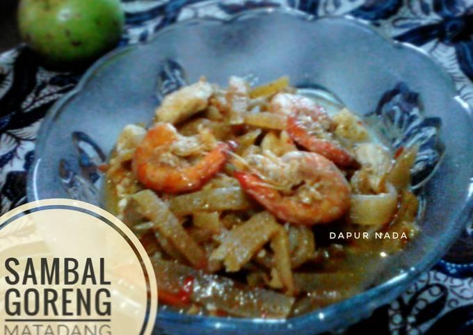 Resep: Sambal goreng Manisa Tahu Udang