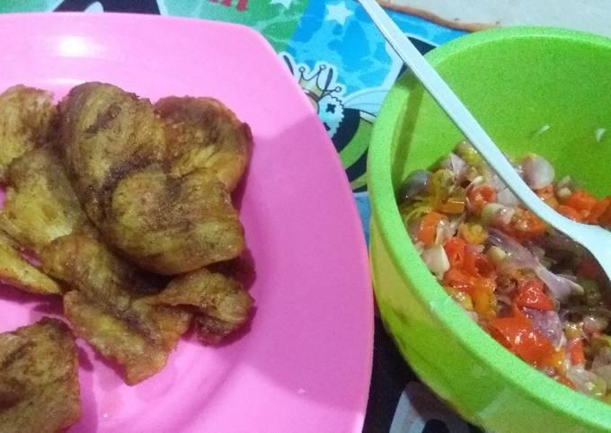 Resep Ayam goreng sambal matah