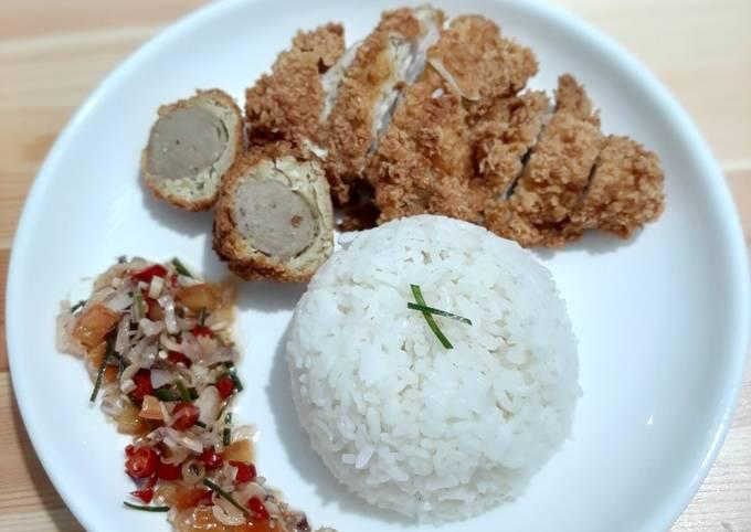 Resep Chicken katsu sambal matah