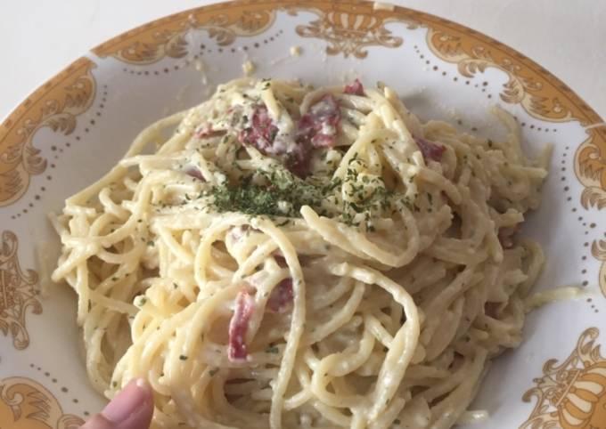 Resep Spaghetti Carbonara simple