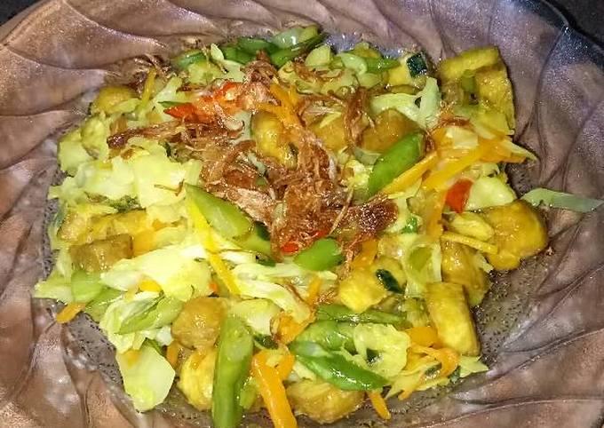 Resep: Tumis buncis, kol, wortel, tahu