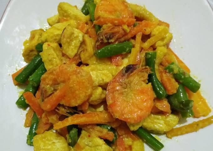 Resep: Tumis sayur udang bumbu kuning
