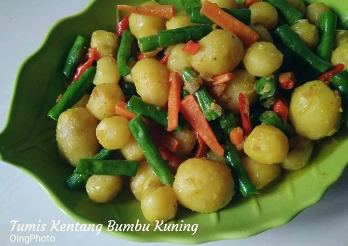 Resep Tumis kentang bumbu kuning