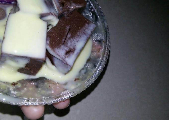 Resep: Pudding coklat dengan vla lumerrr