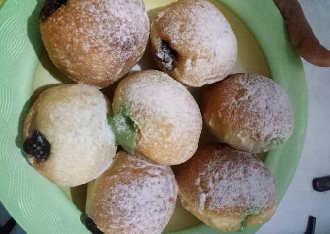 Resep Donat menul tanpa kentang (donat isi fla)