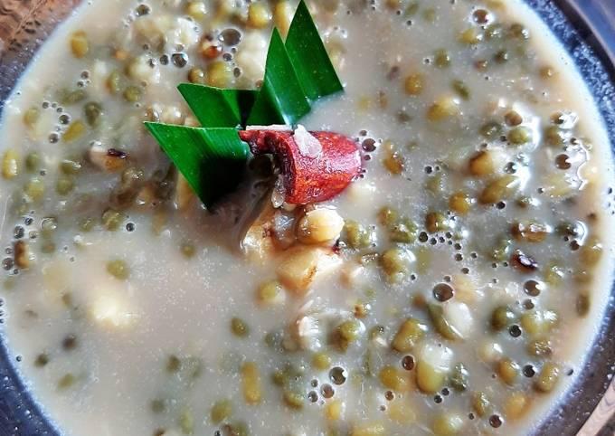 Resep Bubur kacang ijo kental