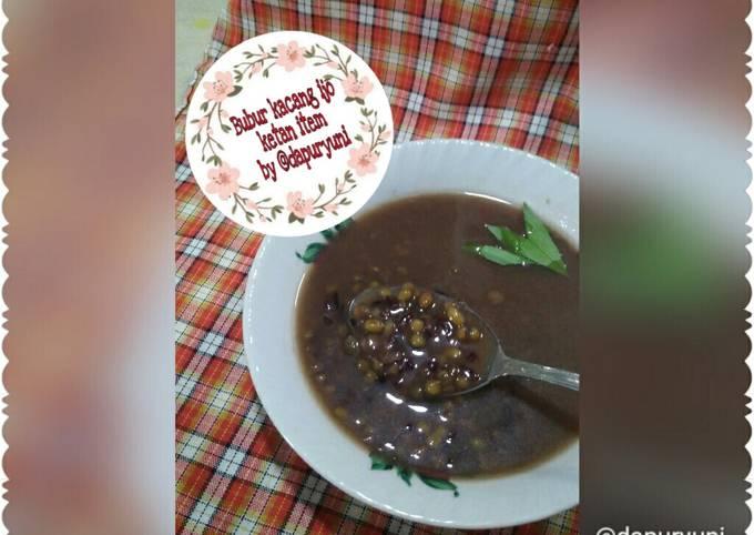 Resep Bubur kacang ijo ketan item