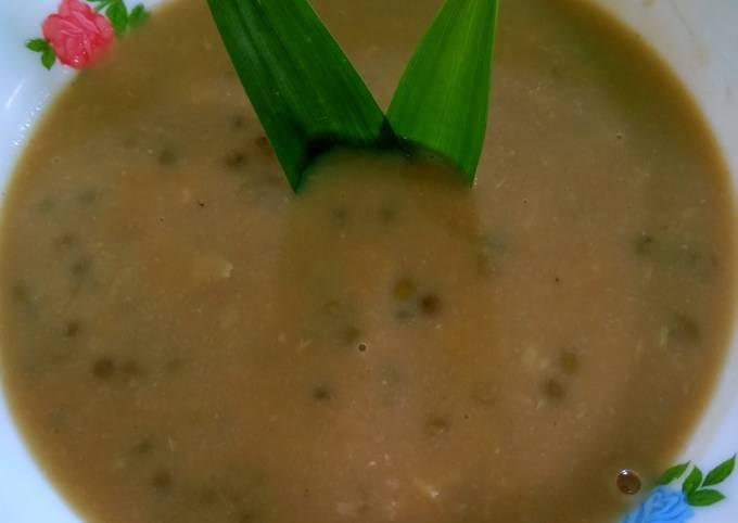 Resep Bubur kacang ijo durian