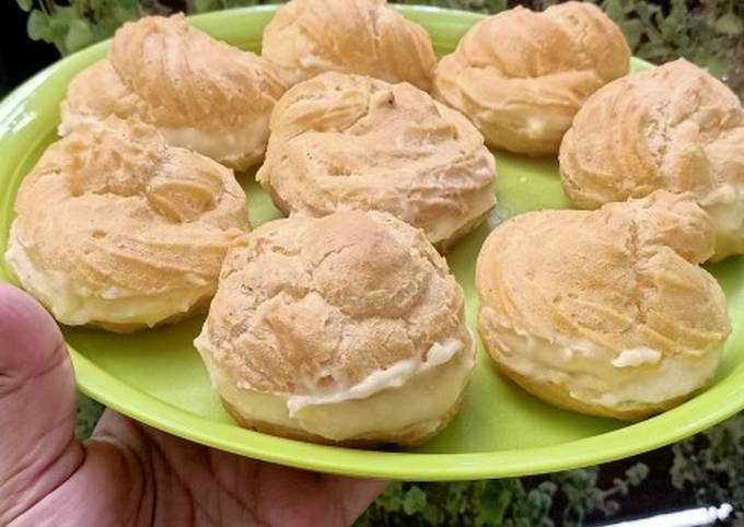 Resep: Soes anti gagal plus vla lumer