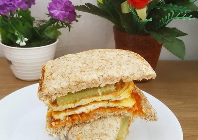 Resep: Sandwich roti gandum telur dadar