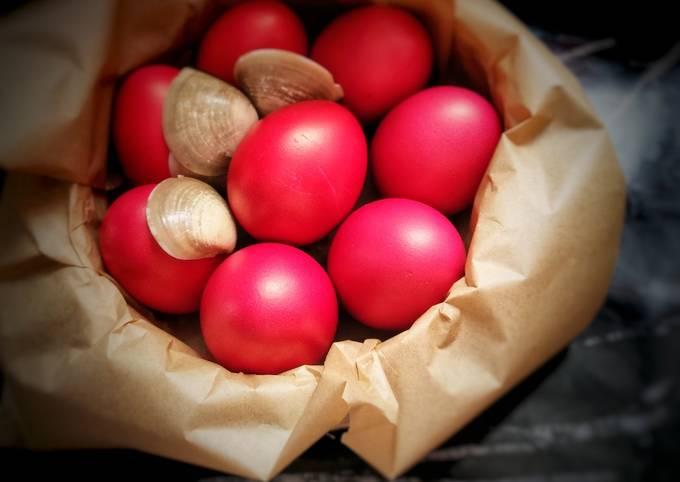 Resep Telur Merah Ulang Tahun (shiny, mess free) 🎉🥳
