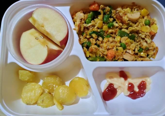 Resep Menu diet makan siang telur orak arik sayur