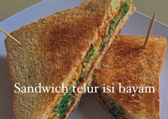 Resep: Sandwich telur isi bayam