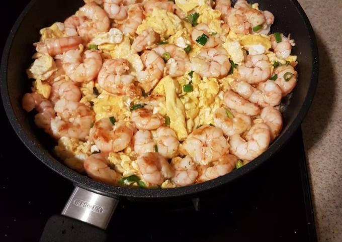 Resep: Udang telur pan