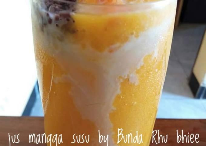 Resep: Jus mangga susu by Bunda Rhu bhiee