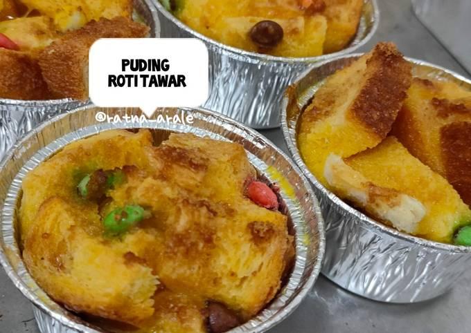 Resep: Puding roti tawar (simple)