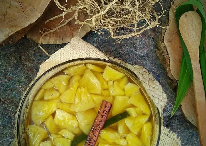 Resep: Manisan nanas siap saji, untuk es campur juga ok