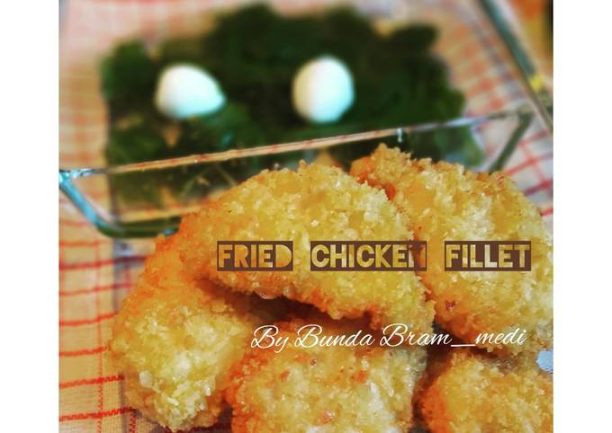 Resep Fried cheesy and veggie chicken fillet