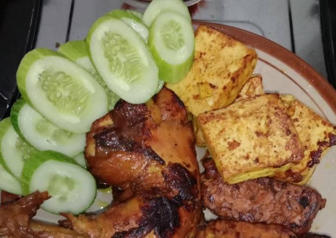 Resep: Ayam & Tahu Tempe Bakar Teflon