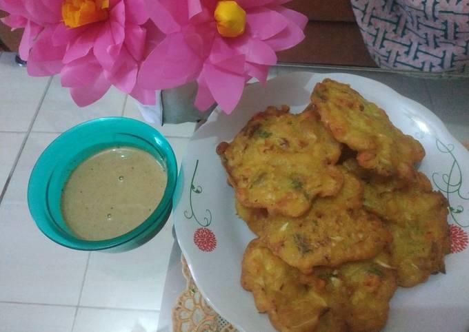 Resep Bakwan sambal kacang
